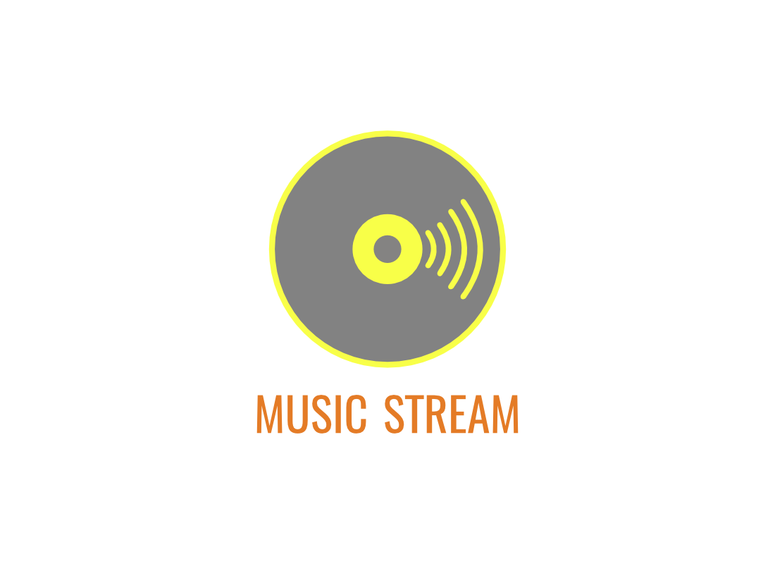 Logo and app icon design for music streaming service