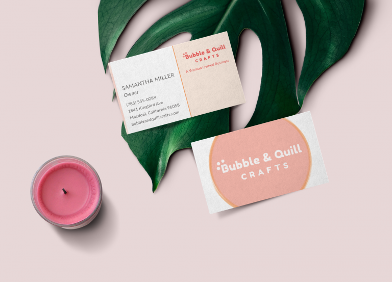 Bubble & Quill Business Card Design